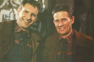 Harrison-Ford-and-his-body-double-on-the-set-of-Blade-Runner