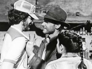 Steven-Spielberg-with-Harrison-Ford-and-Karen-Allen-on-the-set-of-Raiders-of-the-Lost-Ark