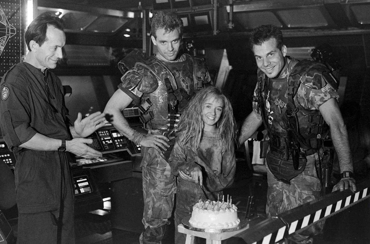 Lance Henriksen  Michael Biehn and Bill Paxton celebrating Louise Head    Lance Henriksen Young