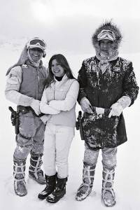 Mark-Hamill-Carrie-Fisher-and-Harrison-Ford-on-the-set-of-The-Empire-Strikes-Back